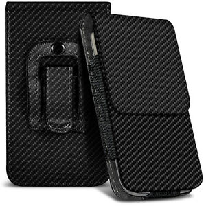 Veritcal-Carbon-Fibre-Belt-Pouch-Holster-Case-For-Nokia-808-Pure-View