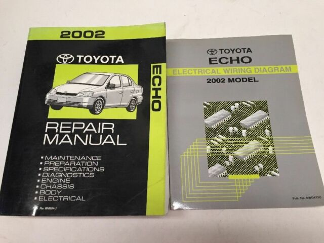 2002 Toyota Echo Oem Factory Repair Manual And Electrical Wiring Diagram Set