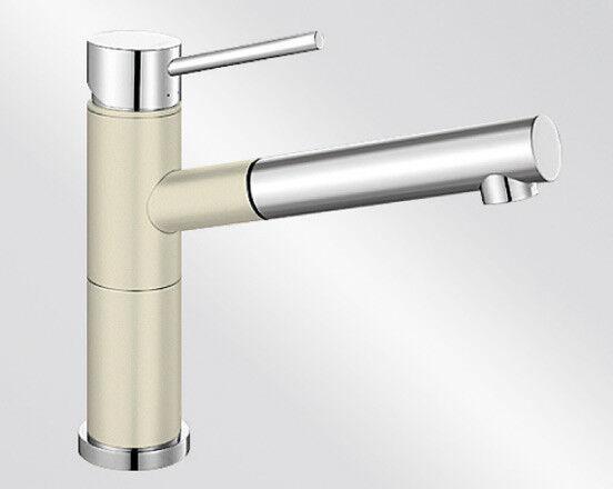 Weiß ALTA-S Compact Schlauchbrause im SILGRANIT®-Look