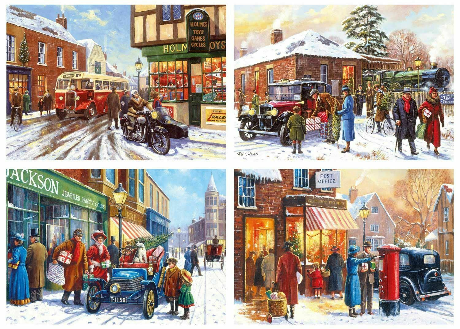 Gibsons Inverno About Town Puzzle (4 x 500 Pezzi)