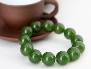 New officer beauty TAIWAN green jade beads 12mm spring bracelet