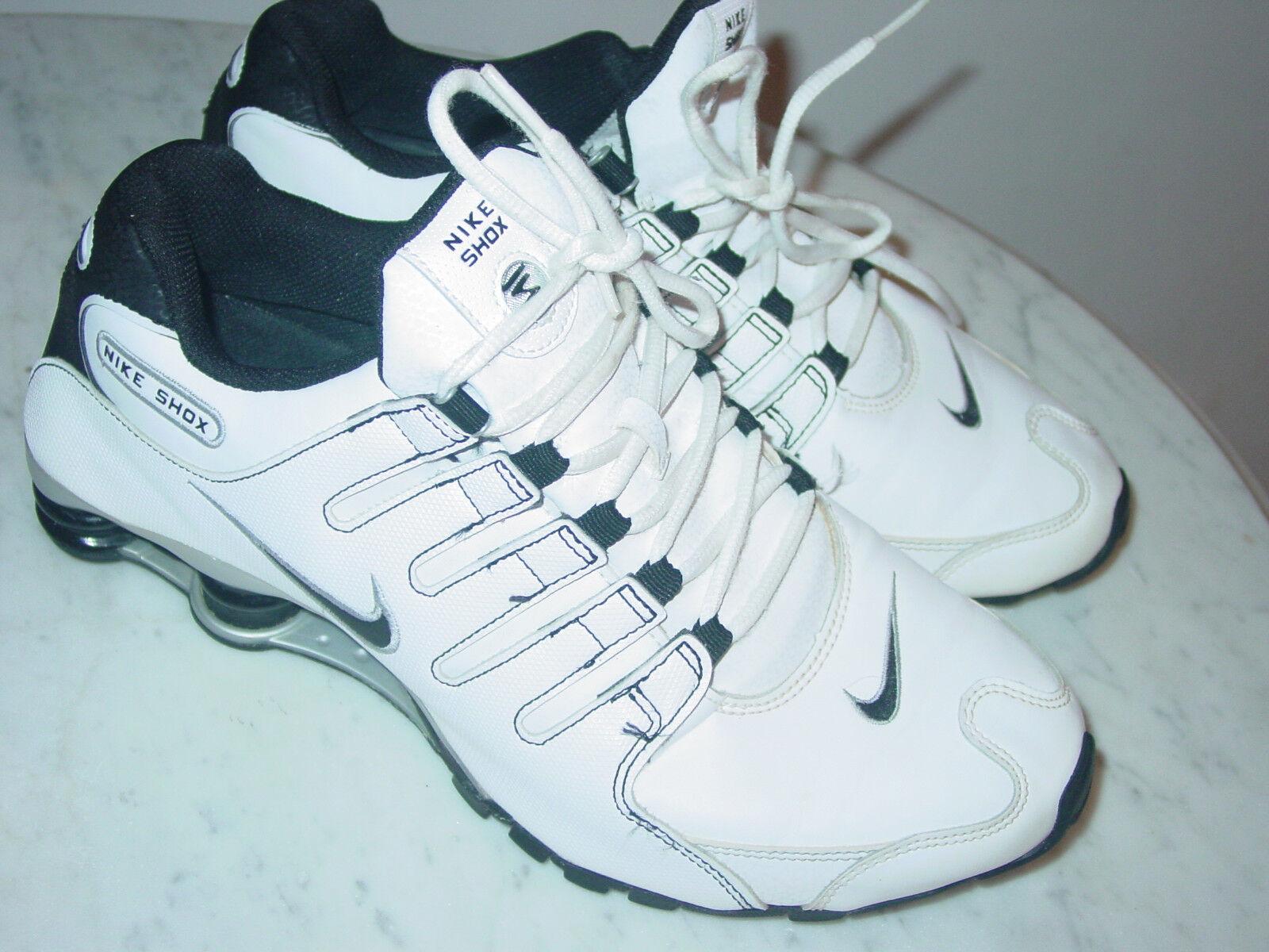 2013 - shox nz bianco / nero / corsa!numero argento metallico scarpe da corsa!numero / 11 160.00 3482b2