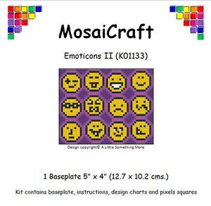 MosaiCraft-Pixel-Loisirs-creatifs-Mosaique-Art-Kit-039-Emoticons-II-039-Pixelhobby