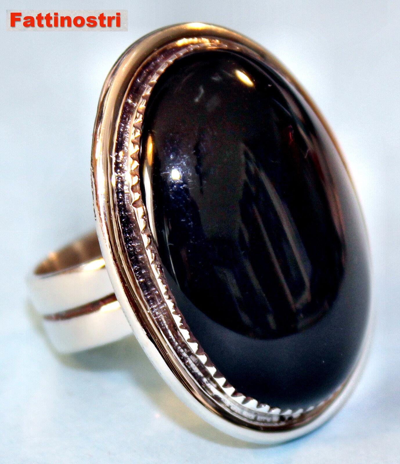 Indiani Gioielli Anello argentoo nero onyx onyx onyx argentoo gioielli intarsio in vero gioielli 2503f7
