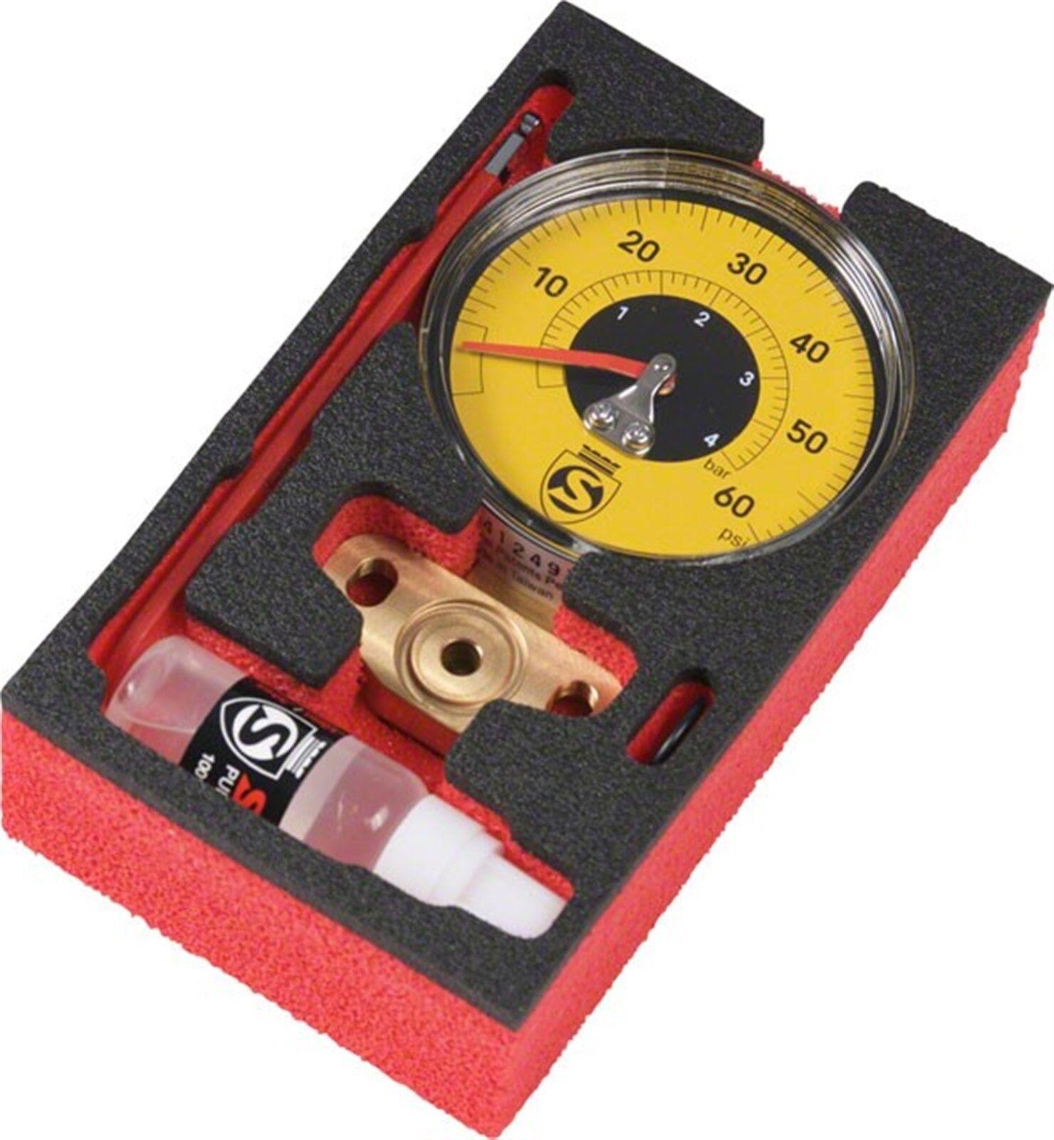 Silca súper Pista Ultimate 60psi calibre amarillo de baja presión