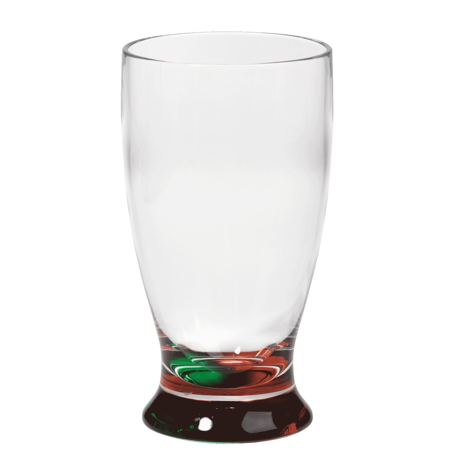 Merritt 19oz Holiday Impressions Red Green High Ball Tumblers  Glasses Set of 6