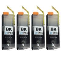 4 Black XL Ink Cartridges for Brother MFC-J4410DW, MFC-J4610DW
