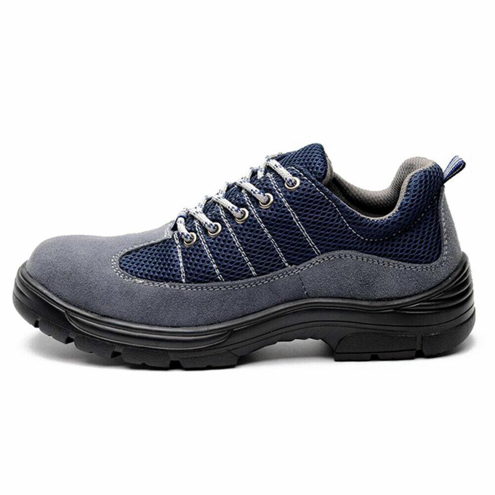 Hombre Piel Nobuk Trabajo Seguridad Zapatos Smash-Proof Penetration-Resistant