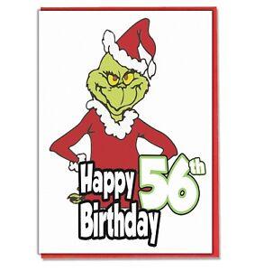 Image Is Loading Grinch 56th Birthday Card Husband Wife Boyfriend Girlfriend