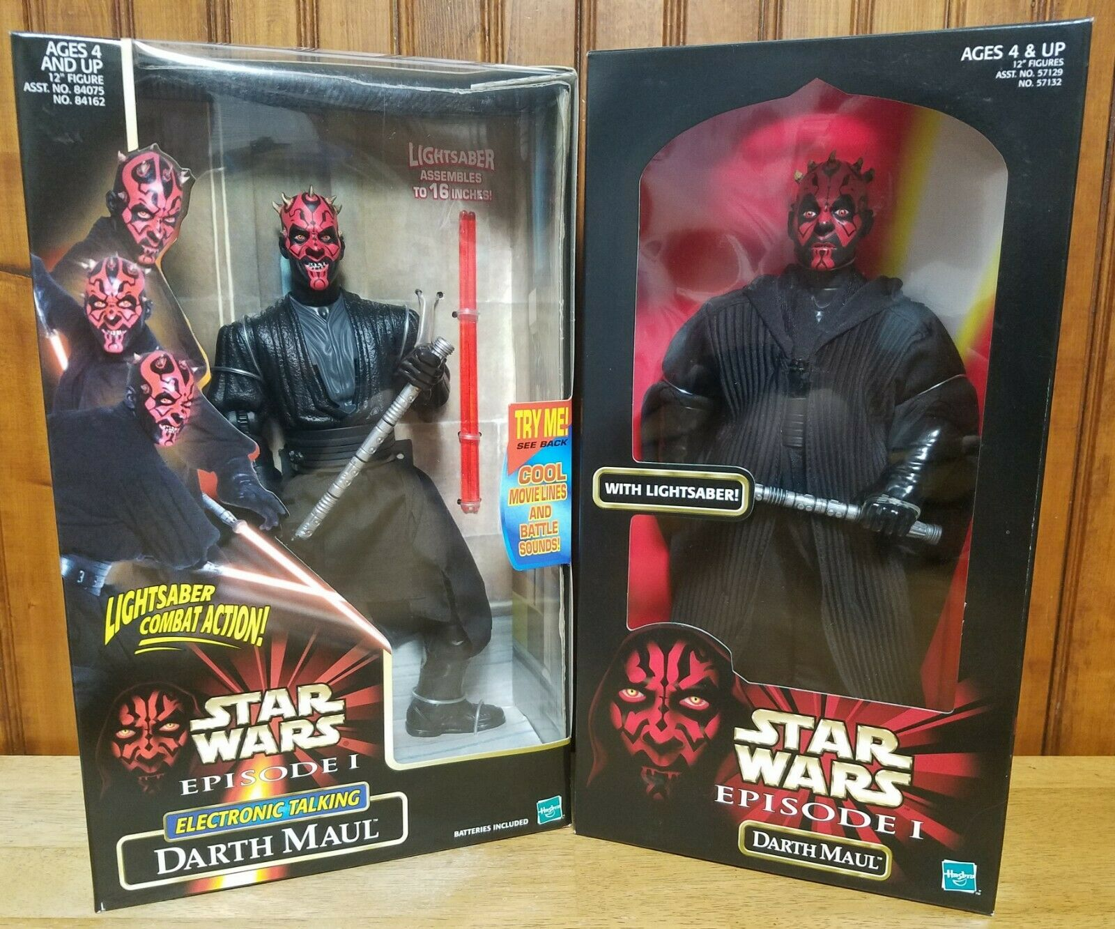 1998 Star Wars Episode I Darth Maul 12  & Talking Darth Maul Lightsaber Action