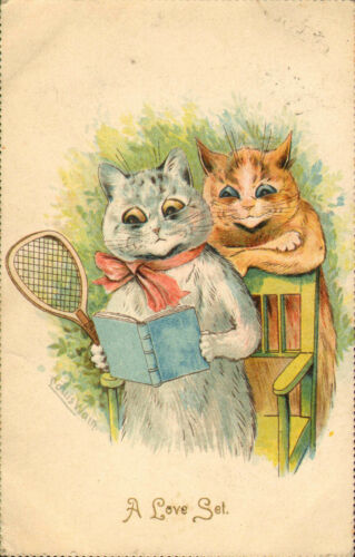 1907 louis wain a love set! galander post card number 298