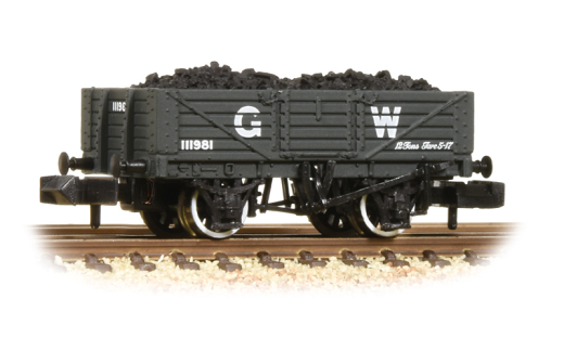 377-061 Graham Farish N Gauge 5 Plank Wooden Floor Wagon GWR Grey with Load