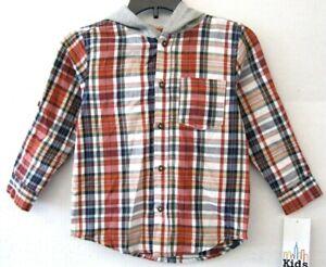 Kids Headquarters Boys Hoodie Sweatshirt Size 7 Grey Red Fire Truck NEW KD1299