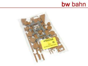 Kibri-H0-Bausatz-4100-26-Faesser-Leiter-Gartenwerkzeug-Dachrinne-Neu