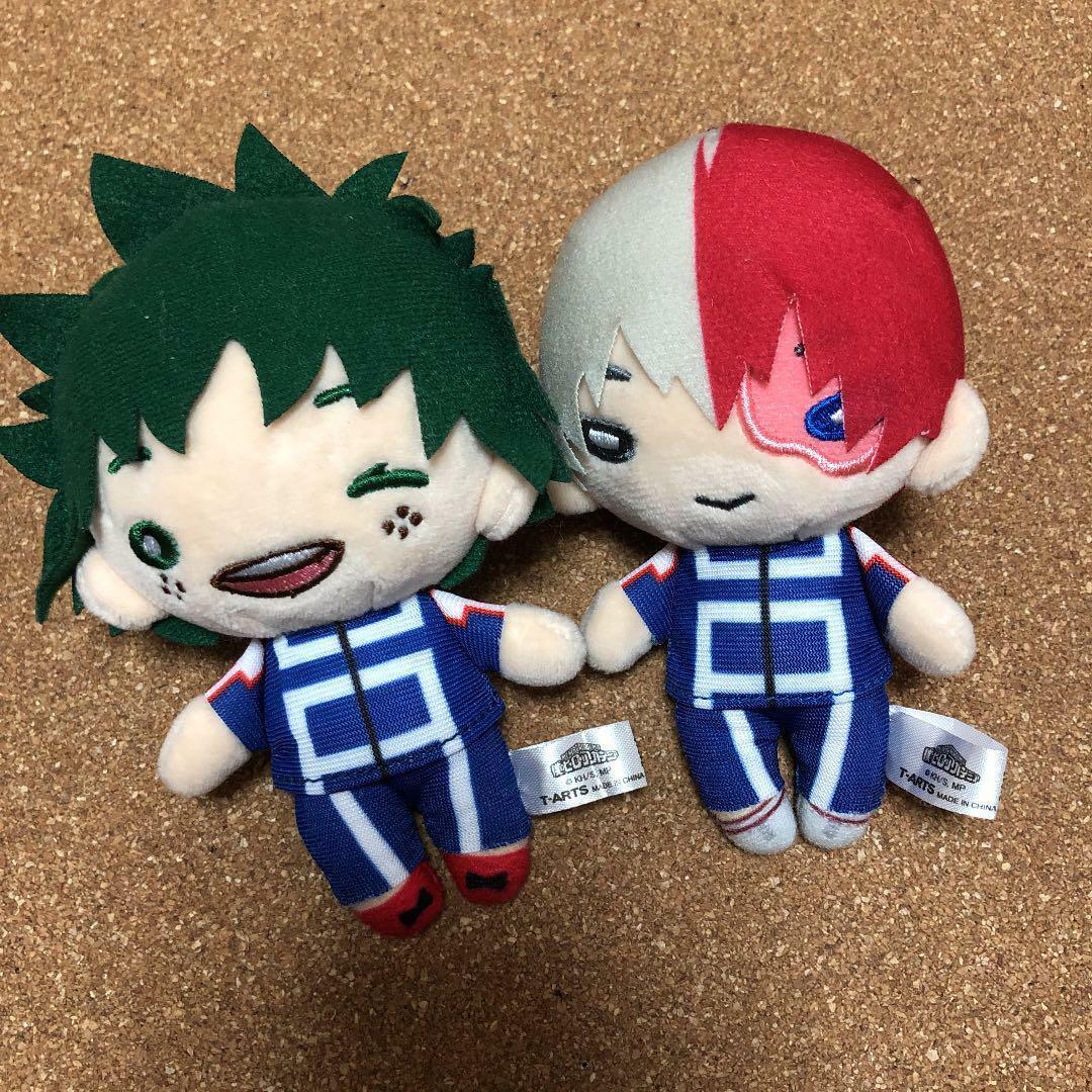 My Hero Academia Nitotan Mini Plush Izuku Midoriya & Shoto Todgoldki 12cm FS