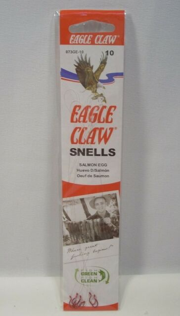Eagle Claw Snells Red Salmon Egg Fishing Hooks Size 6