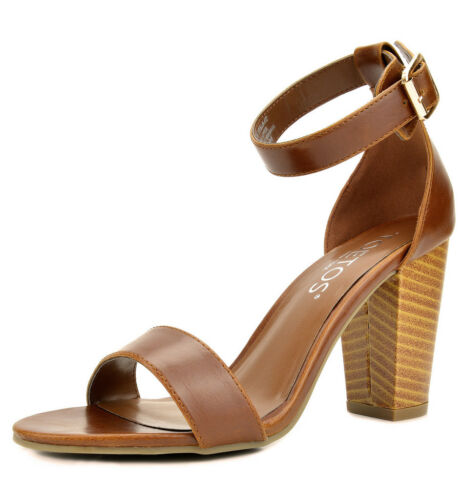 STELLA-02 Women/'s New Open Toe High Chunky Heel Ankle Strap Dress Pumps Sandals