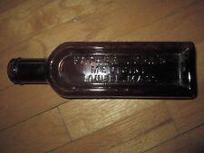 Antique Dark Brown Glass FATHER JOHN'S MEDICINE BOTTLE Lowell, Mass