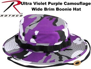c6ab4eaf7184a Image is loading Ultra-Violet-Purple-Camouflage-Wide-Brim-Military-Bucket-