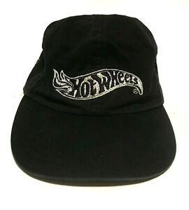Hot-Wheels-Collector-100-Cotton-Baseball-Cap-Black-Silver-Logo-Strapback-KP