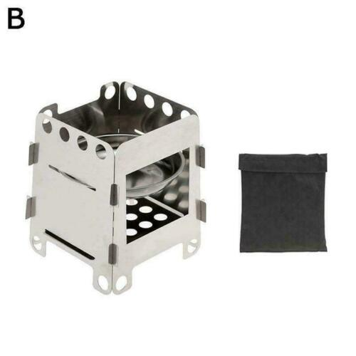 Details about  /Outdoor Camping Pocket Wood Stove Folding Hiking Picnic Burner Titanium T3F1