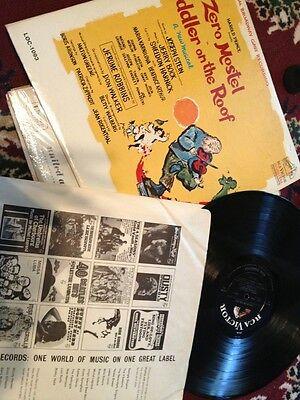 Fiddler On The Roof Vintage Record Album 1964 Original Cast