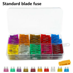 80x-STANDARD-car-Blade-Fuses-Assorted-Mixed-3-5-7-5-10-15-20-30-40-A-Set-amp-Puller