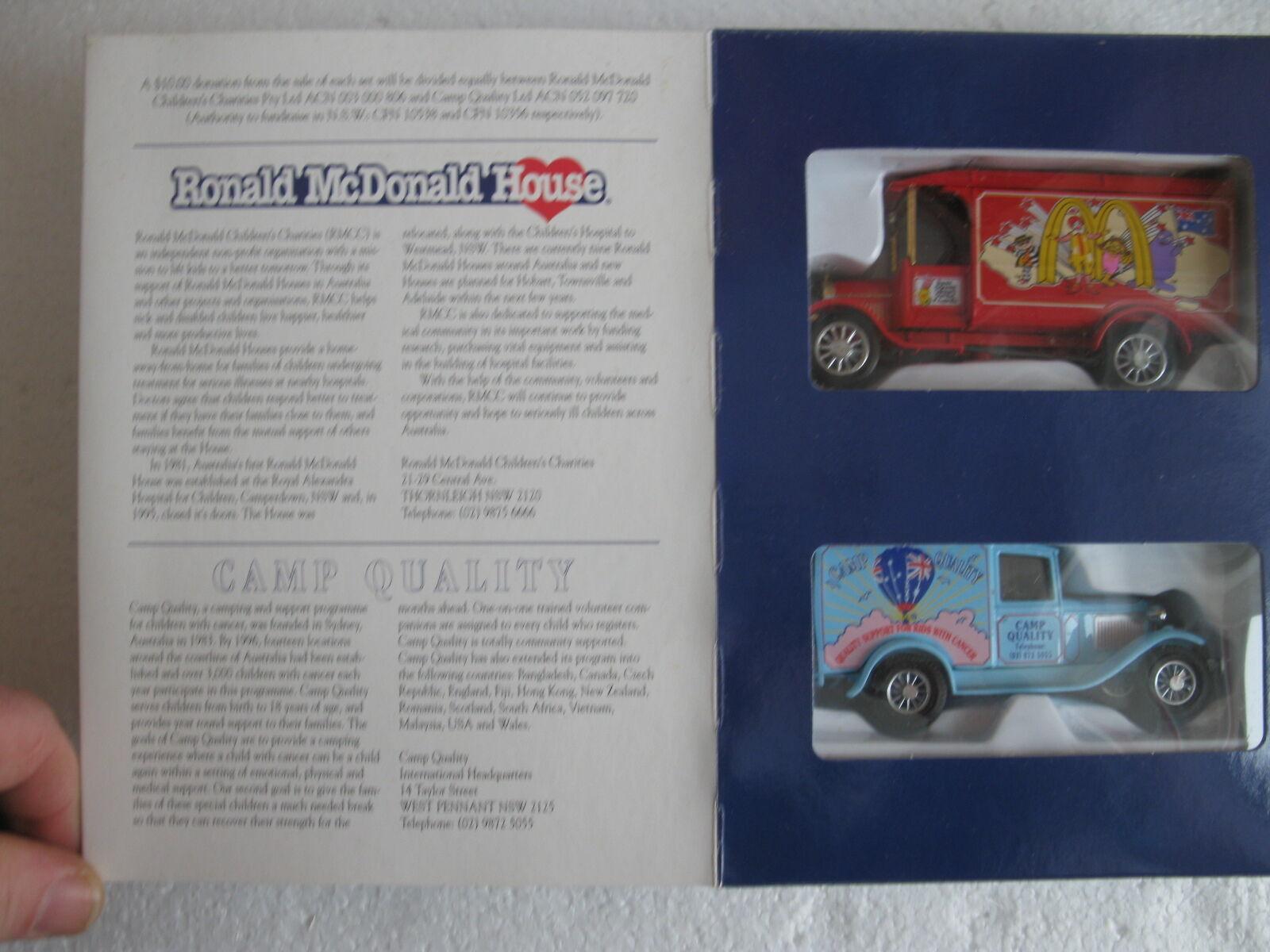 Matchbox 1996 mcdonald Collectors set ford TT ych02 1 y ford a ych02 2