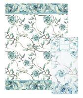 Blue Roses Tea Towel Ashdene Bloom Beautiful 100% Cotton White Shell Rummel