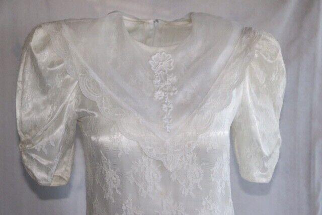 Gunne Sax Ivory Dress Girls Short Sleeve Jessica … - image 7