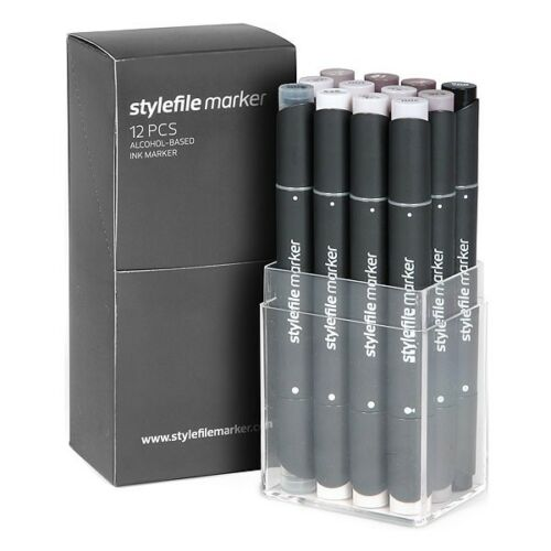 12er Startset Warmgrau Layoutmarker Stylefile Marker