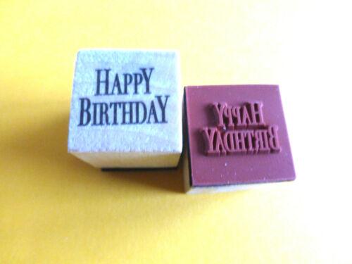 Motivstempel Happy Birthday Stempel  20x20mm Kartengestaltung  Basteln