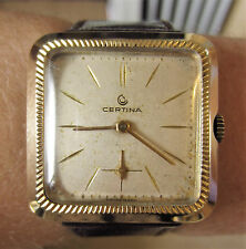 1960s Gents GP Certina 15 Jewels Mechanical Watch 20-23 Mov't Working