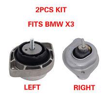 M976 Fits 2004-2006 BMW X3 2.5L 3.0L Front Left /& Right Engine Motor Mount Set
