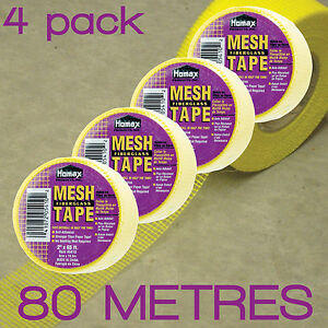 SELF-ADHESIVE-FIBERGLASS-MESH-JOINT-DRYWALL-TAPE-5cm-x-20M-4-PACK-H5410B