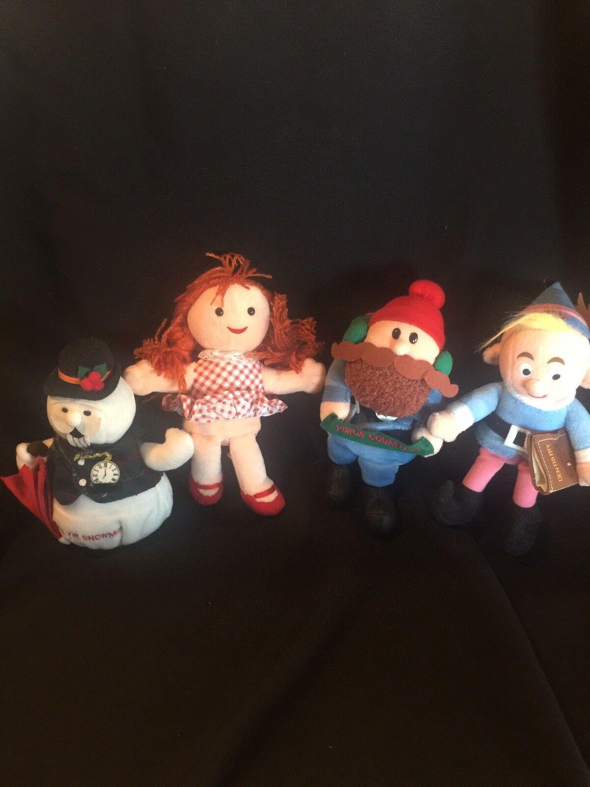 (4)Yukon Cornelius Hermey  Sam The Snowman & Sue DolI DolI DolI Island  of Misfit Toys Vtg 10f6e4