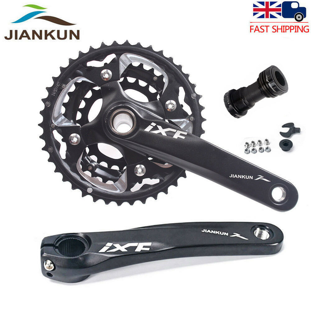 MTB Bike  Triple 10 Speed Crankset Chainset & BB 104 64BCD 24 32 42T Chainring  limited edition