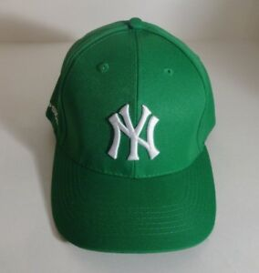 NY YANKEES GREEN MLB BASEBALL CAP HAT ADJUSTABLE STRAP ROBIN HOOD ... 469710c10770