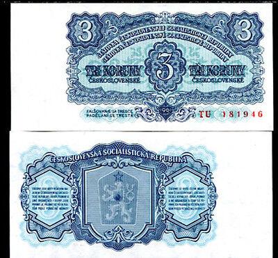 FREE SHIPPING WORLDWIDE 1961 CZECHOSLOVAKIA 3 korun