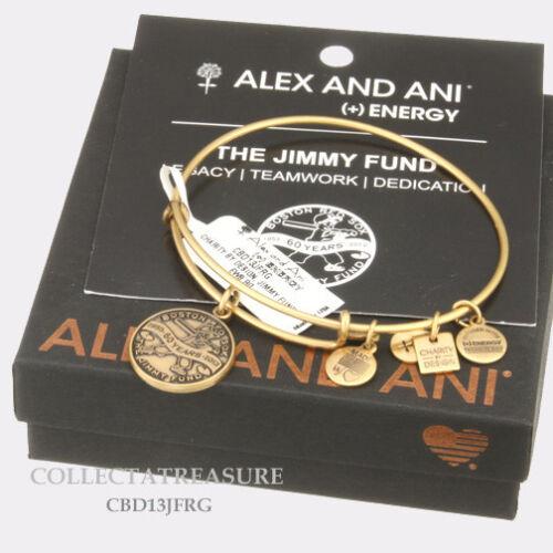 Authentic Alex and Ani Jimmy Fund Gold Charm Bangle CBD