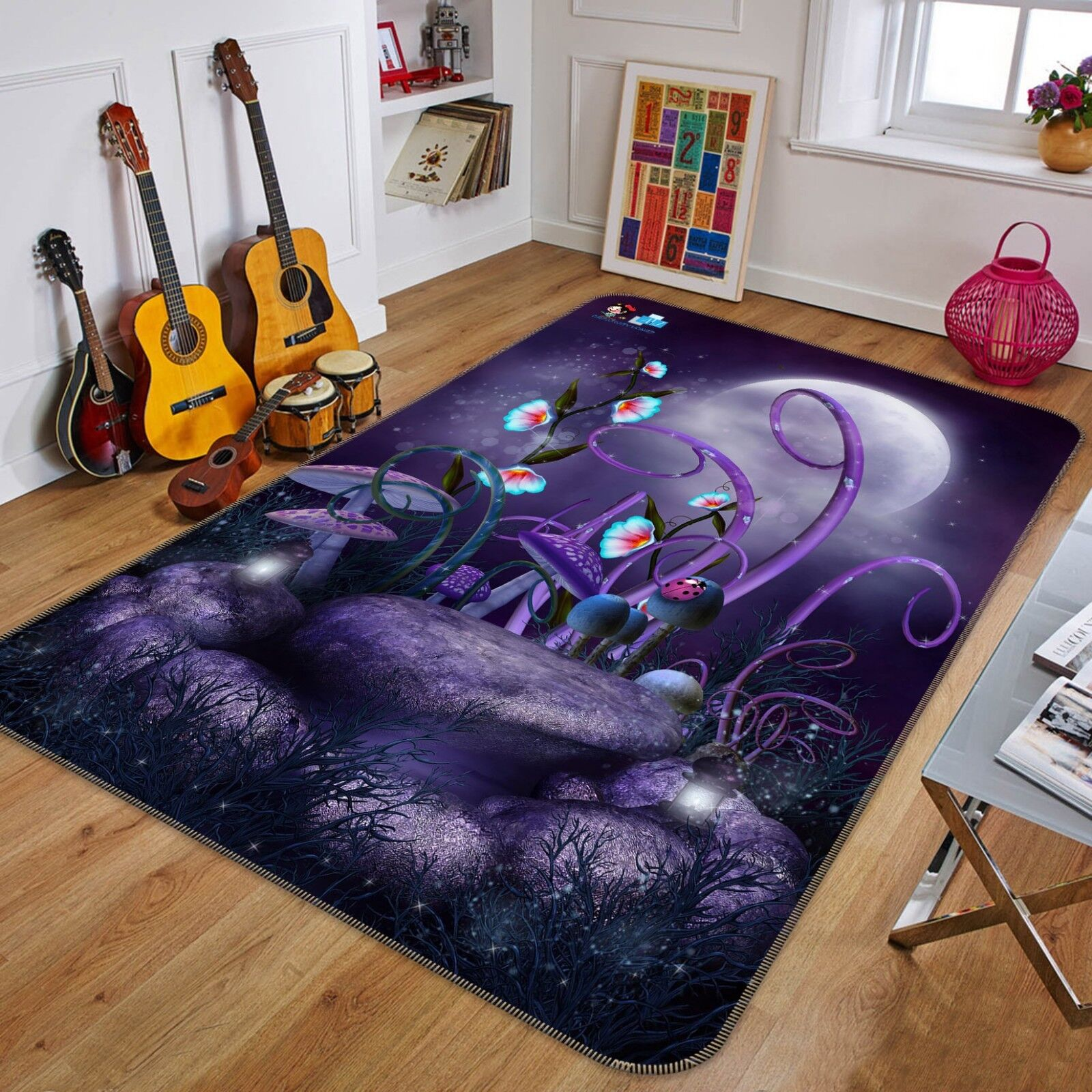3D Jungle Moon 668 Non Slip Rug Mat Room Mat Quality Elegant Photo Carpet US