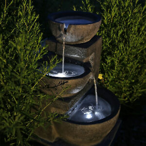 Solarbrunnen Gartenbrunnen Solar Wasserspiel Für Garten