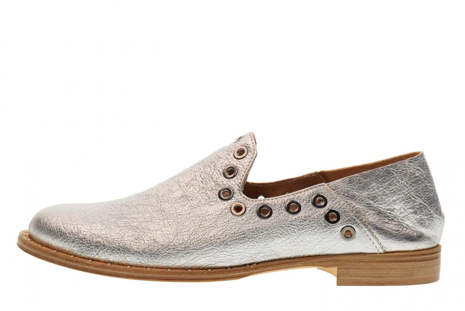 ... Erman s scarpe scarpe scarpe donna mocassino ST01 ARGENTO P18 751cd8 ... b05d9a56e36