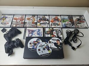 Sony PlayStation 2 Console PS2 Fat -Tested - w/(12) Sports Games And Controllers