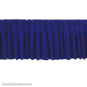 Window Treatment Royal Blue Rod Pocket Curtain Topper Velvet ...