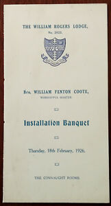 The-William-Rogers-Lodge-No-2823-Installation-Banquet-Tuesday-18th-Feb-1926-card