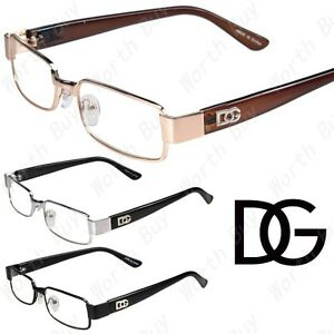 Eyeglasses With No Bottom Frame : New Womens Mens DG Clear Lens Frames EyeGlasses Designer ...