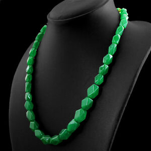 267-00-CTS-EARTH-MINED-RICH-GREEN-EMERALD-FACETED-BEADS-NECKLACE-FREE-SHIPPING