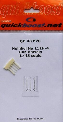Quickboost 1//48 Heinkel He111H-4 Gun Barrels # 48270