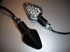 4X LED Black STAR Clear Turn signal YAMAHA XP500 TMAX,SRX600,XT600E,SZR660